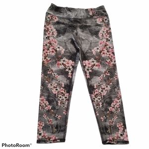Evolution and Creation floral graphic leggings